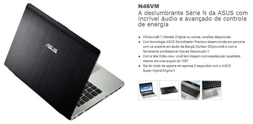 Asus N46VM-V3081Q - Tela 14