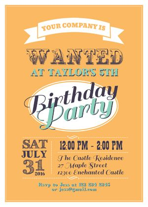 Western Classic Birthday Invitation