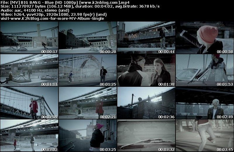 [MV] BIG BANG   Blue (HD 1080p Youtube)
