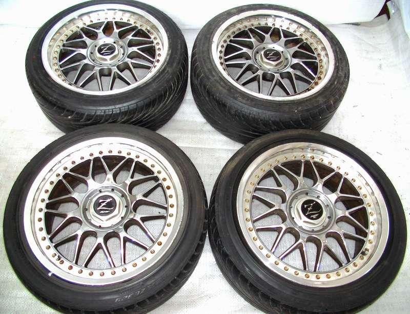 Zauber alloy wheels rims 17 7.5J 8.5J +33 4x114 5x114 180sx RX8