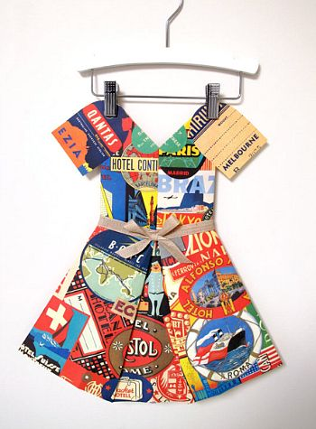 Around the World paper dress on Cool Mom Picks