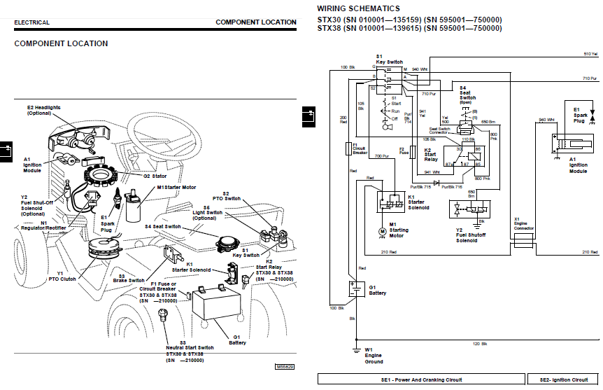 john deere stx 38 wiring diagram for  john  free engine