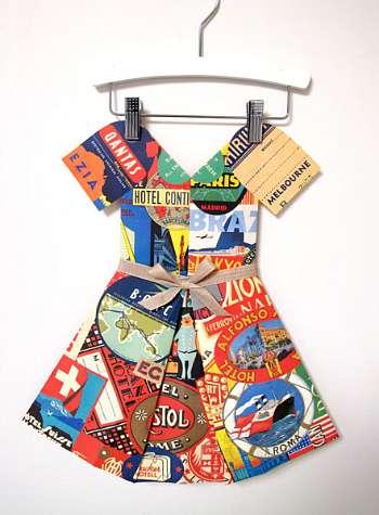 Around the World paper dress on Cool Mom Picks